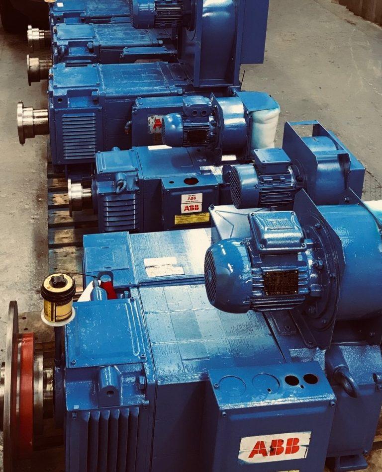 Reconditioned DC Motors. Electric motor repairs.